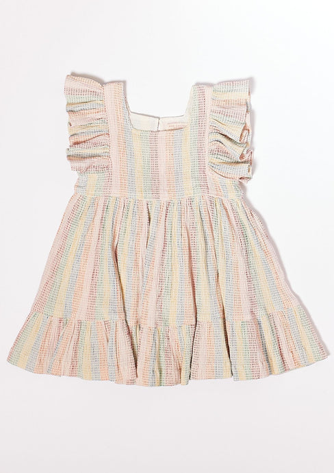 Pink Chicken Elsie Dress Rainbow Repair Stitch