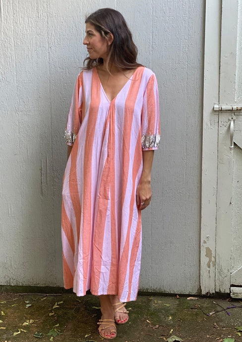 Pink Chicken Emmerson Dress Pink Lady Stripe