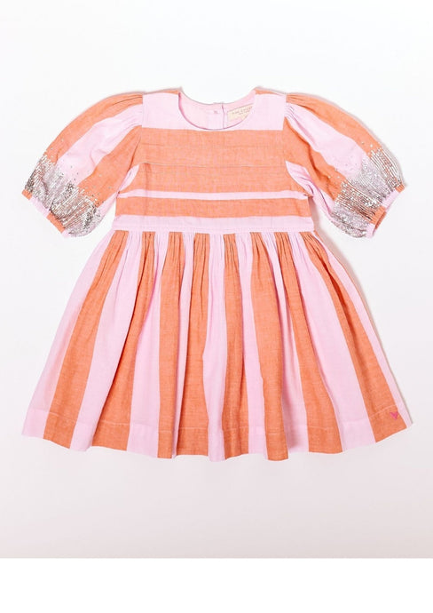 Pink Chicken Evelyn Dress Pink Lady Stripe