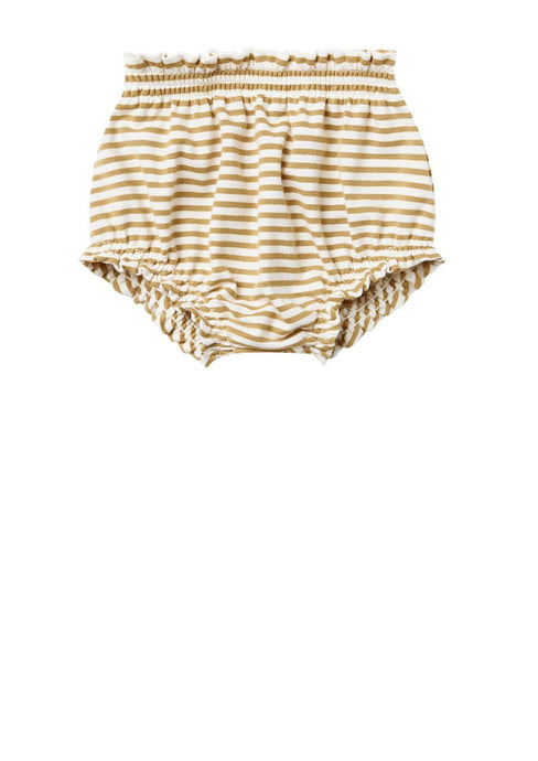 Quincy Mae Gathered Bloomer Gold Stripe