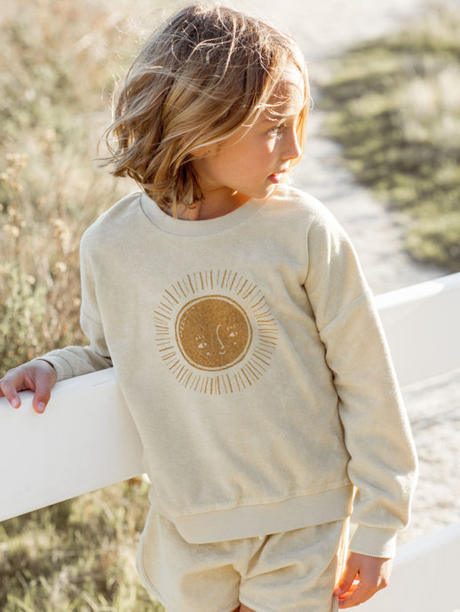 Rylee and Cru Crew Neck Pullover Sun