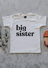 Big Sister Tee in cream color. 100% organic cotton