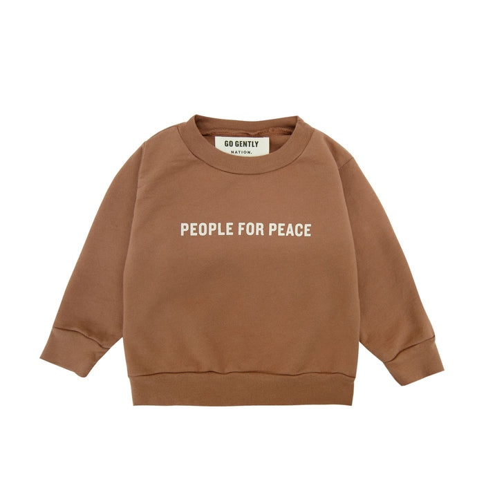Go Gently Nation | People for Peace Crewneck | Clay