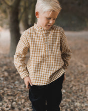 Rylee and Cru | gingham mason shirt | goldenrod