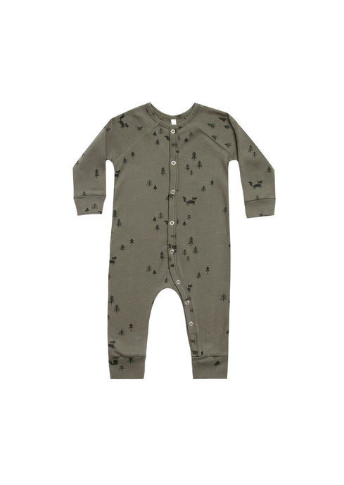 Rylee and Cru Forest Longjohn pajamas in light-forest