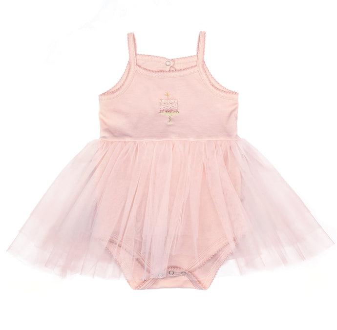 wild wawa bday tutu in dusty pink