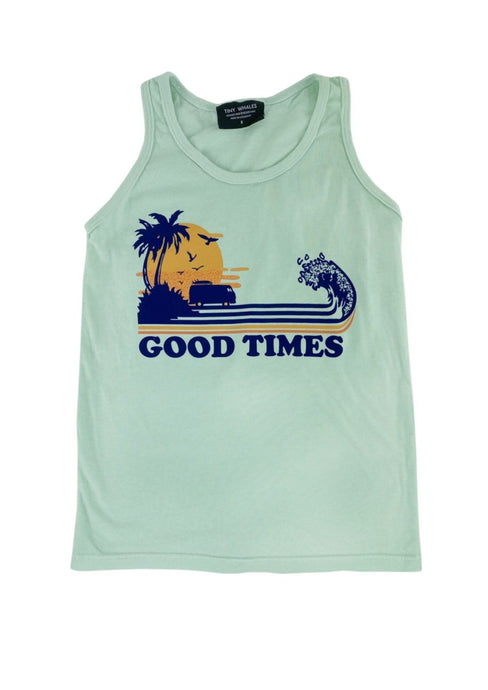 Tiny Whales Good Times Tank Top Seafoam