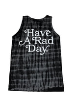 Tiny Whales Have A Rad Day Tank Top Black Tie Dye