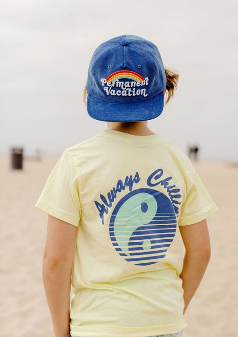 Tiny Whales Permanent Vacation Hat Navy Corduroy
