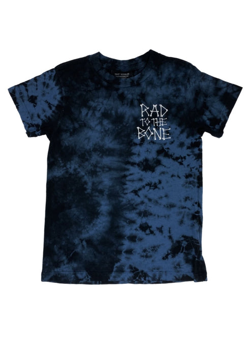 Tiny Whales Rad To The Bone Tee Black Tie Dye