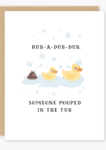 Party of One - Rub-a-dub New Baby Card