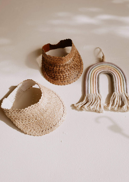 Village Thrive | Rattan Sun Visor for Mini