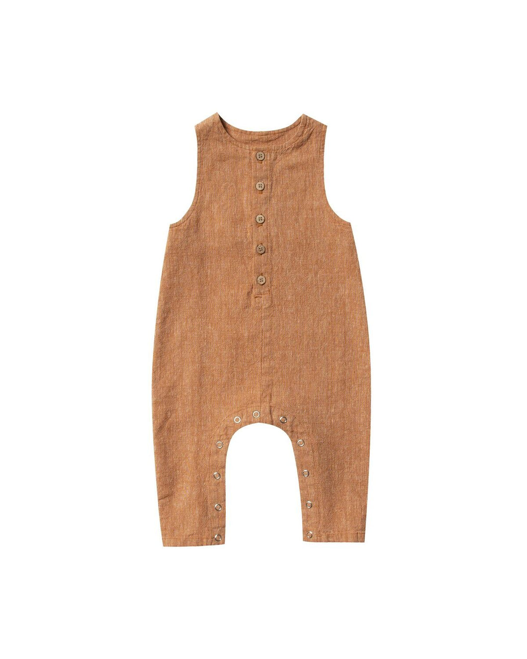 Rylee and Cru | Button Jumpsuit | Bronze