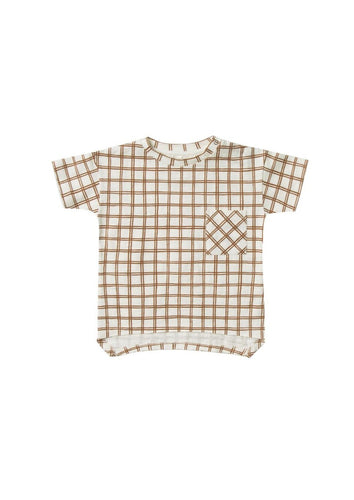 Rylee and Cru | Raw Edge Tee | Bronze Grid