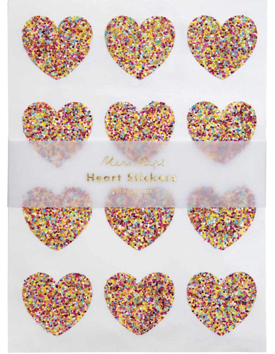 Meri Meri | Heart Glitter Stickers