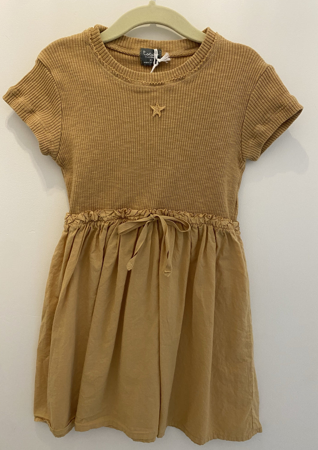 Tocoto Vintage | combined dress | mustard