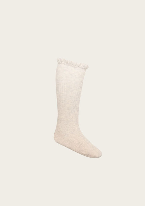 Jamie Kay Frill Socks in Oatmeal