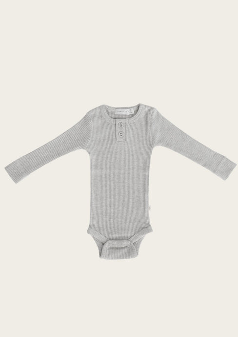 Jamie Kay ribbed bodysuit light gray marle