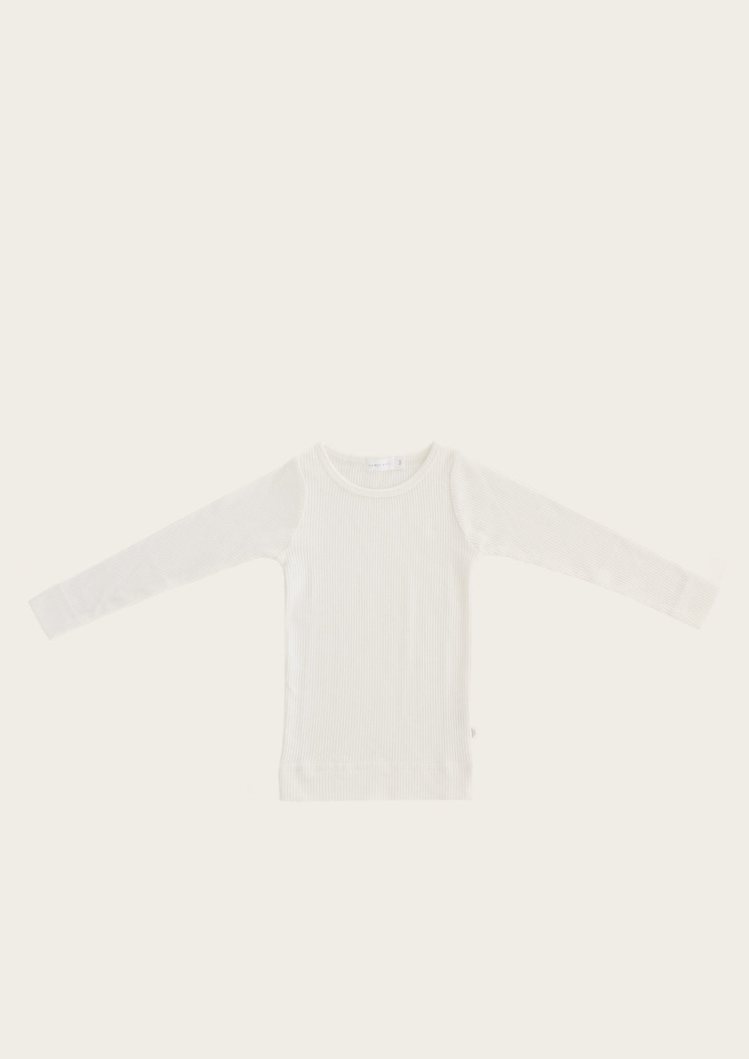 Jamie Kay organic cotton long sleeve top milk