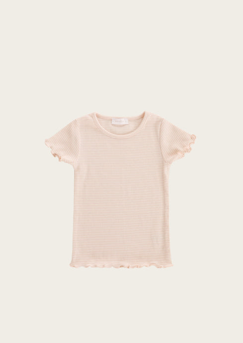jamie kay lily tee in peach stripe