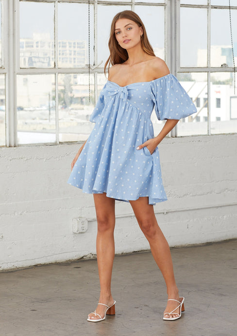 Cleobella | Katherine Mini Dress | Chambray
