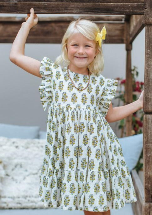 Pink Chicken | Kit Dress | Antique White Vintage Floral