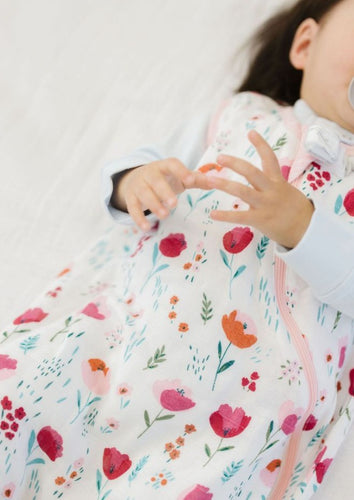 Loulou LOLLIPOP  | Bamboo Muslin Sleeping Sack | Rosey Bloom