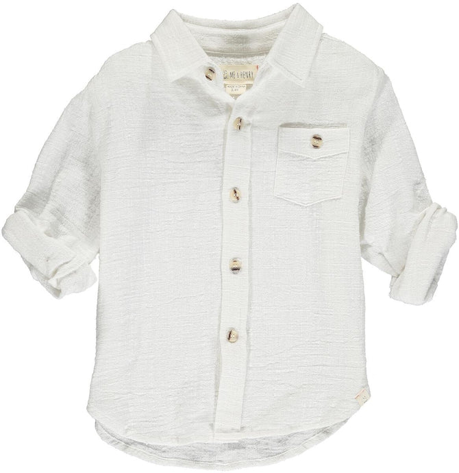 Me & Henry Merchant Long Sleeve Shirt in white
