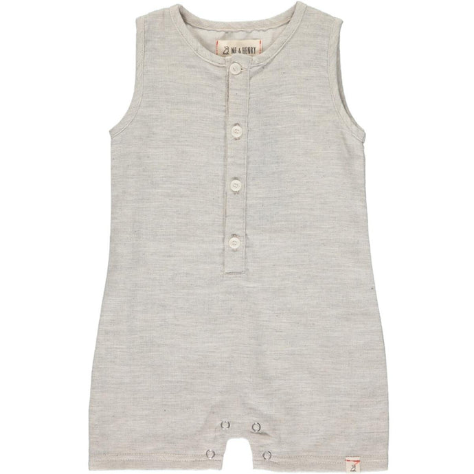 Me & Henry | Sandy Playsuit | Pale Grey