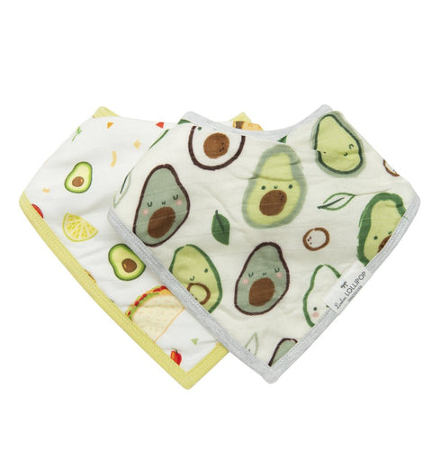 Loulou LOLLIPOP  | Luxe Muslin Bandana Bib Set | Avocado