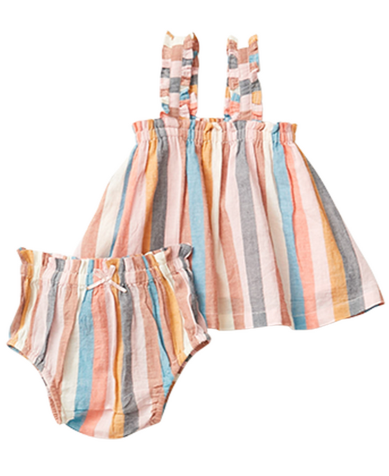 Pink Chicken Emma Set in Multi Stripe
