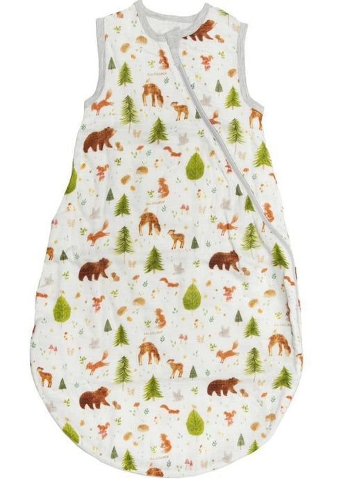 Loulou LOLLIPOP | Bamboo Muslin Sleeping Sack | Forest Friends