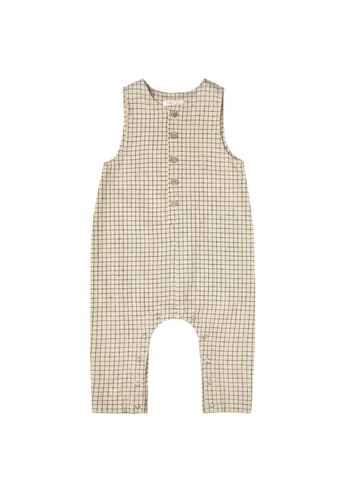 Rylee & Cru Grid Button Jumpsuit in Butter