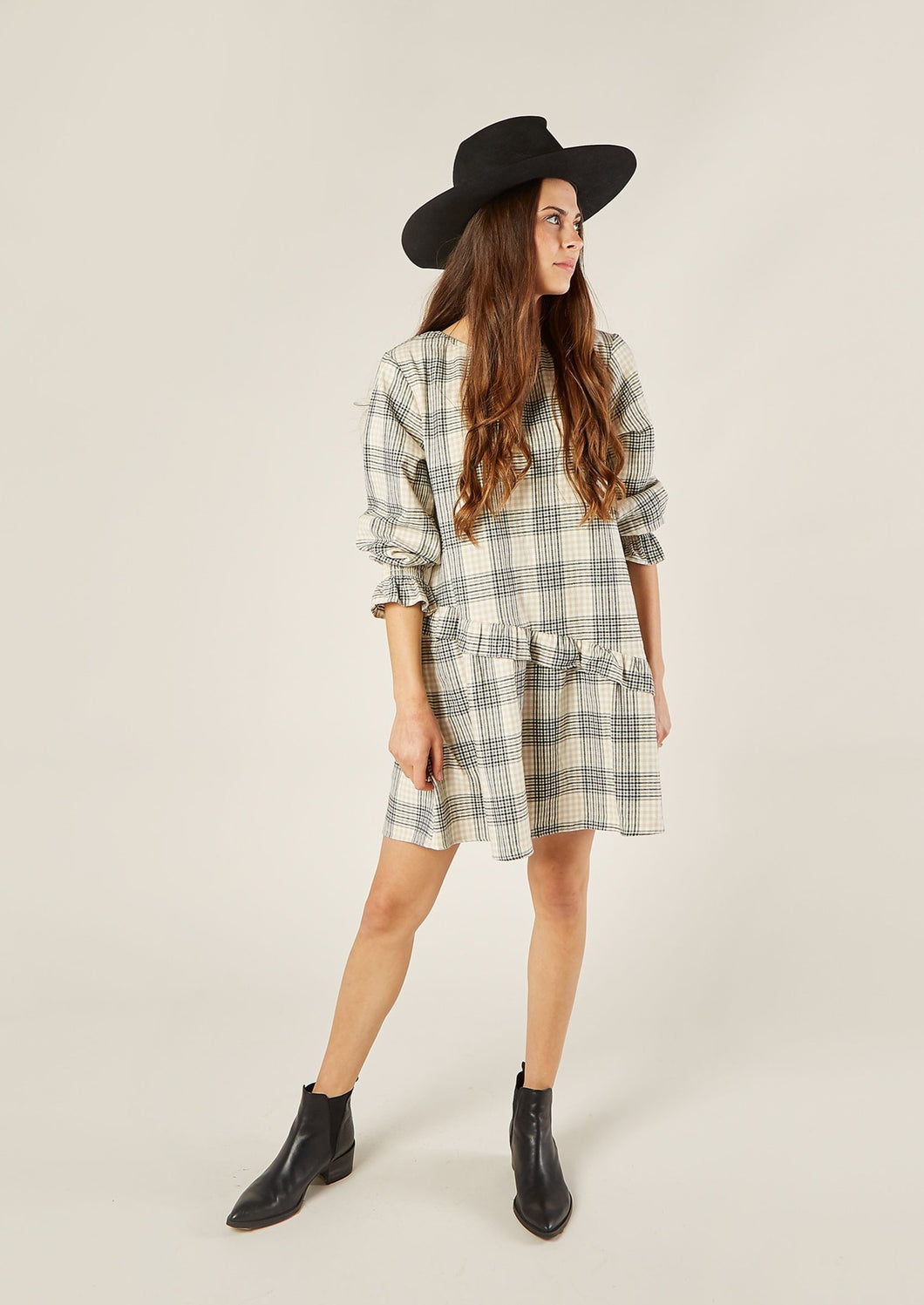 Rylee and Cru | Flannel Hazel Shift Dress | Forest