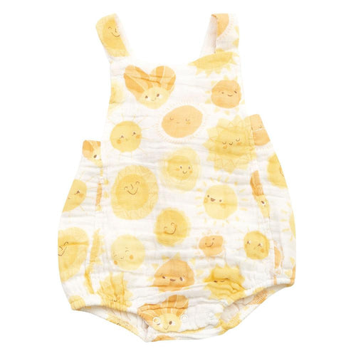 Angel Dear | Retro Muslin Sunsuit | Sunshine