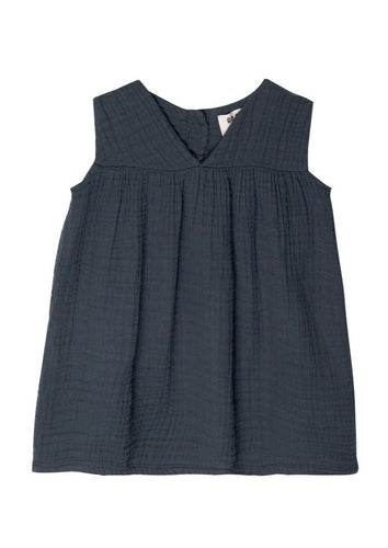 Go Gently Nation | Gauze Frock | Indigo