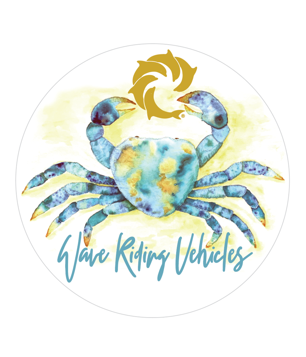 Blue Crab Decal