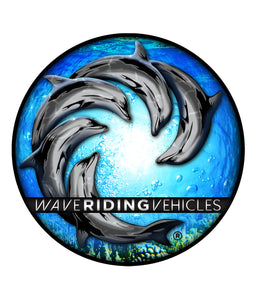 "4"" DELFIN ROUND VINYL DECAL"