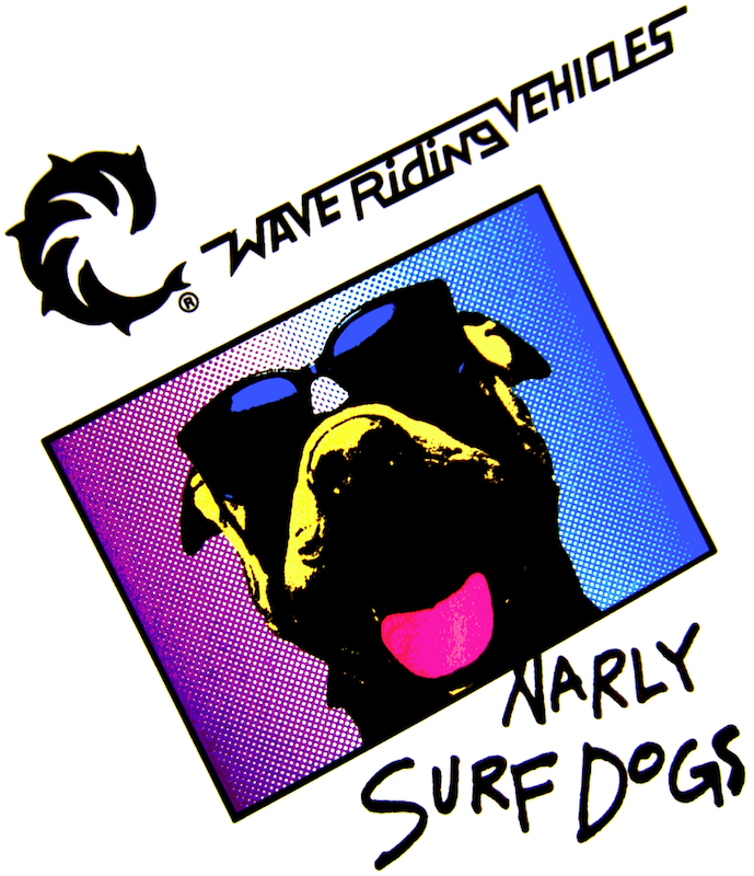 Narly Surf Dog Decal