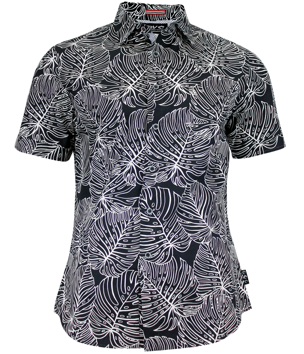 ZEBRA PALM BUTTON UP