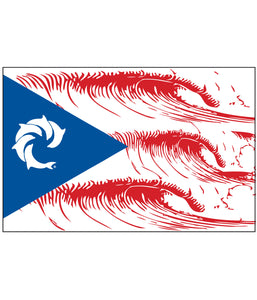 PR WAVE FLAG DECAL