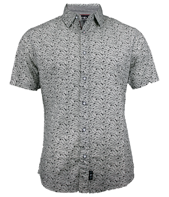 Retro Leaf S/S Button Up