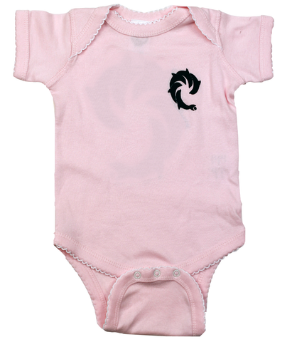SOLID PINK INFANT S/S ONESIE