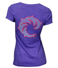 Squiggle Me Softly Ladies V-Neck