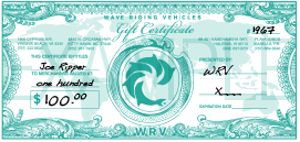WRV IN-STORE* Gift Certificate