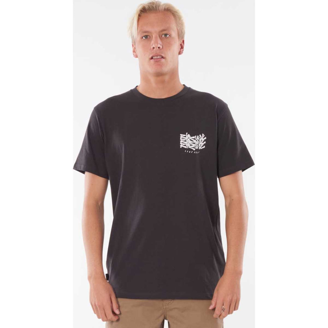 Surf Heads Tee in Washed Black