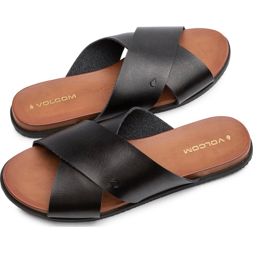 DOUBLE CROSS SANDALS - BLACK