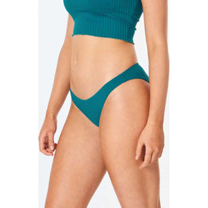 Premium Surf Cheeky Coverage Bikini Bottom in Jade