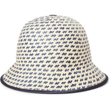 Essex Straw II Bucket Hat - Navy/Tan