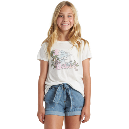 GIRLS VINTAGE POSTCARD TEE